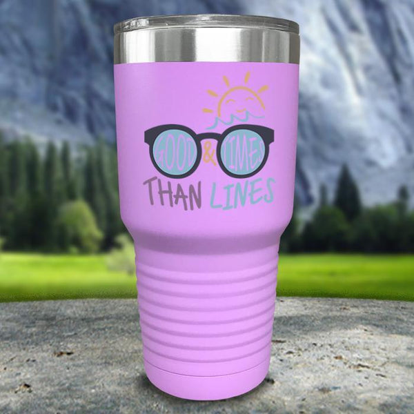 Good Times And Tan Lines Color Printed Tumblers Tumbler Nocturnal Coatings 30oz Tumbler Lavender