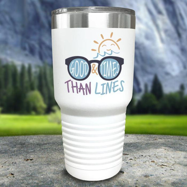 Good Times And Tan Lines Color Printed Tumblers Tumbler Nocturnal Coatings