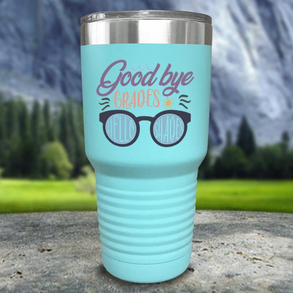Goodbye Grades and Hello Shades Color Printed Tumblers Tumbler Nocturnal Coatings 30oz Tumbler Mint