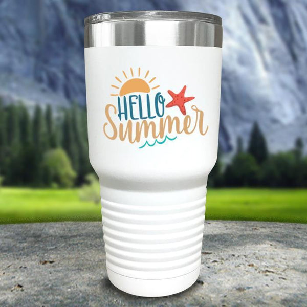 Hello Summer Color Printed Tumblers Tumbler Nocturnal Coatings
