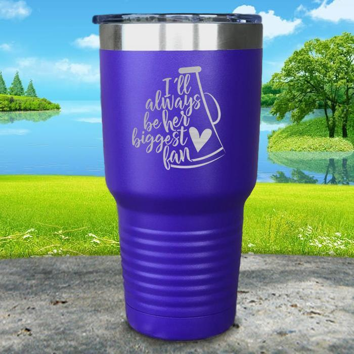 Her Biggest Cheer Fan Engraved Tumbler Tumbler ZLAZER 30oz Tumbler Royal Purple