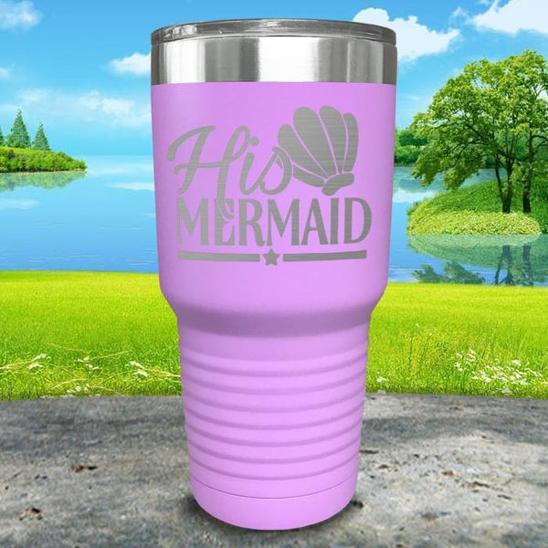 His Mermaid Engraved Tumbler Tumbler ZLAZER 30oz Tumbler Lavender