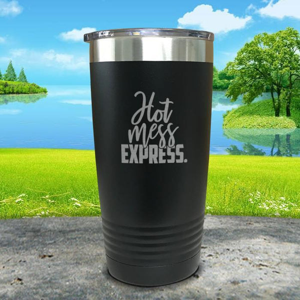 Hot Mess Express Engraved Tumbler Tumbler ZLAZER 20oz Tumbler Black