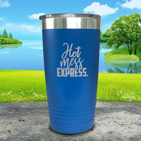 Hot Mess Express Engraved Tumbler Tumbler ZLAZER 20oz Tumbler Blue