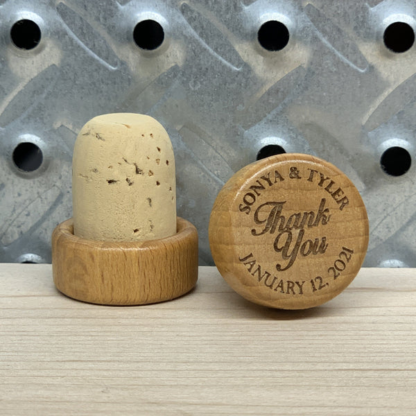 Personalized Thank You Wine Stopper (Pack Of 10)