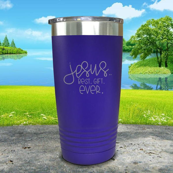 Jesus, Best Gift Ever Engraved Tumbler Tumbler ZLAZER 20oz Tumbler Royal Purple