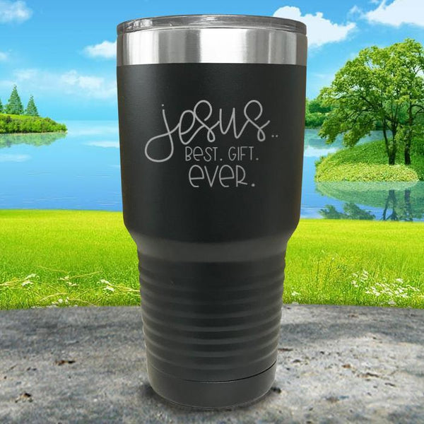 Jesus, Best Gift Ever Engraved Tumbler Tumbler ZLAZER 30oz Tumbler Black