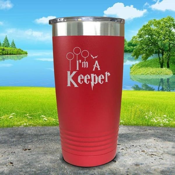 I'm A Keeper Engraved Tumbler Tumbler ZLAZER 20oz Tumbler Red