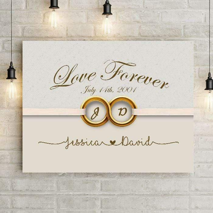 Love Forever Infinity Personalized Canvas-LemonsAreBlue