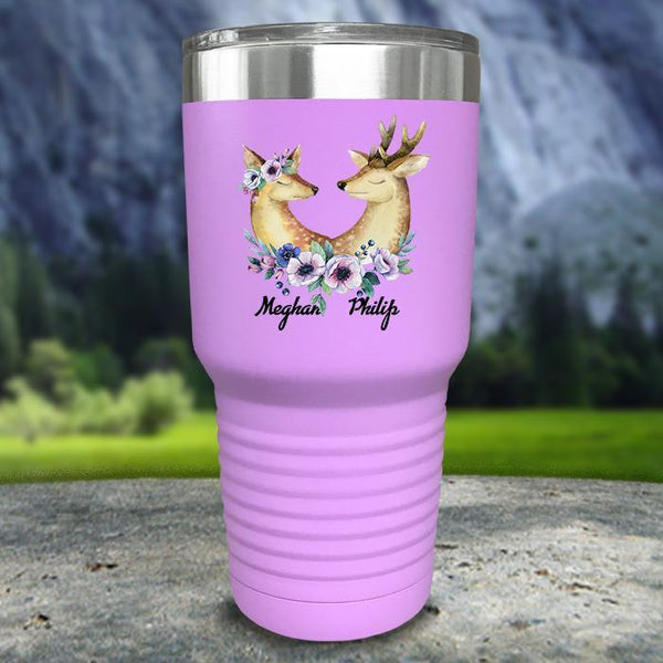 Buck and Doe Personalized Color Printed Tumblers Tumbler Nocturnal Coatings 30oz Tumbler Lavender