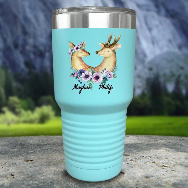 Buck and Doe Personalized Color Printed Tumblers Tumbler Nocturnal Coatings 30oz Tumbler Mint
