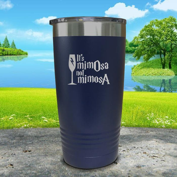 It's mimOsa not mimosA Engraved Tumbler Tumbler ZLAZER 20oz Tumbler Navy