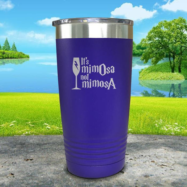 It's mimOsa not mimosA Engraved Tumbler Tumbler ZLAZER 20oz Tumbler Royal Purple