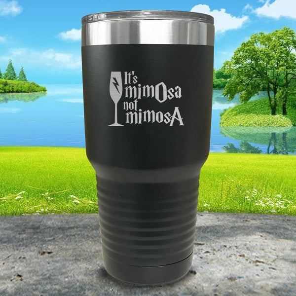 It's mimOsa not mimosA Engraved Tumbler Tumbler ZLAZER 30oz Tumbler Black