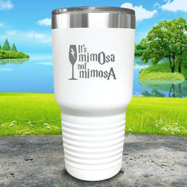 It's mimOsa not mimosA Engraved Tumbler Tumbler ZLAZER 30oz Tumbler White