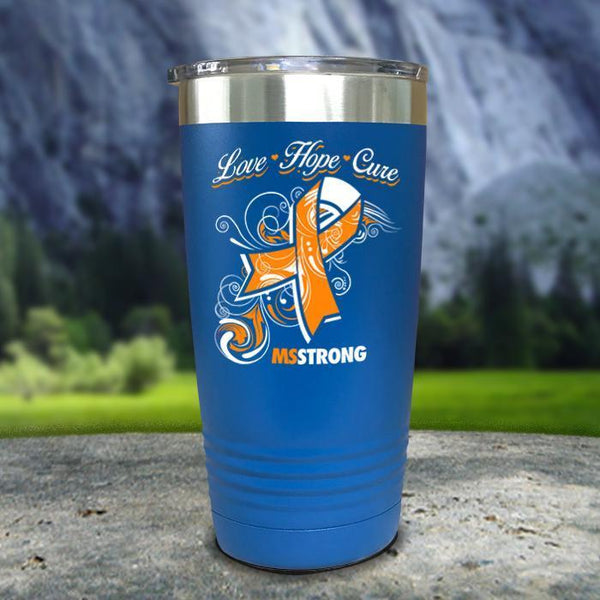 Miss Strong Color Printed Tumblers Tumbler Nocturnal Coatings 20oz Tumbler Blue