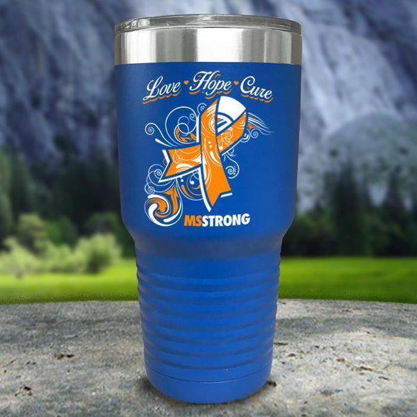 Miss Strong Color Printed Tumblers Tumbler Nocturnal Coatings 30oz Tumbler Blue