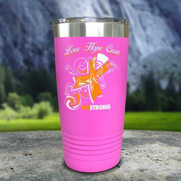 Miss Strong Color Printed Tumblers Tumbler Nocturnal Coatings 20oz Tumbler Pink