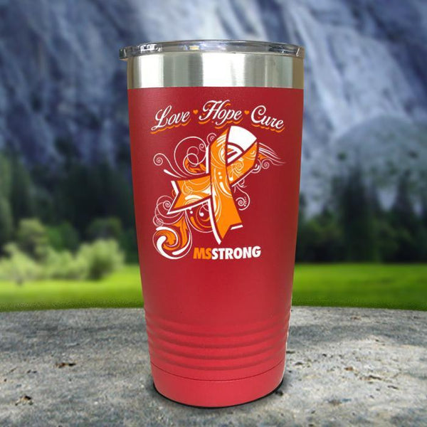 Miss Strong Color Printed Tumblers Tumbler Nocturnal Coatings 20oz Tumbler Red