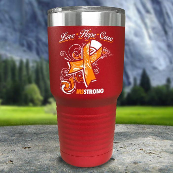 Miss Strong Color Printed Tumblers Tumbler Nocturnal Coatings 30oz Tumbler Red