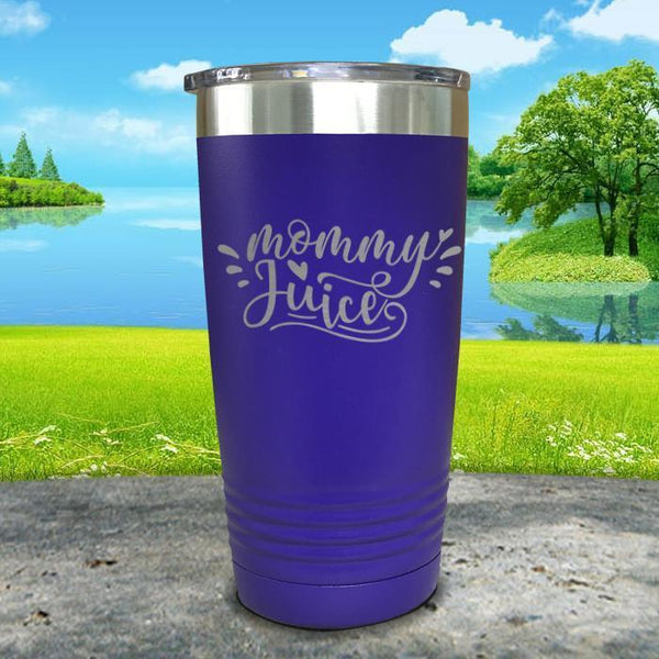 Mommy Juice Engraved Tumbler Tumbler ZLAZER 20oz Tumbler Royal Purple