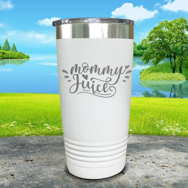 Mommy Juice Engraved Tumbler Tumbler ZLAZER 20oz Tumbler White