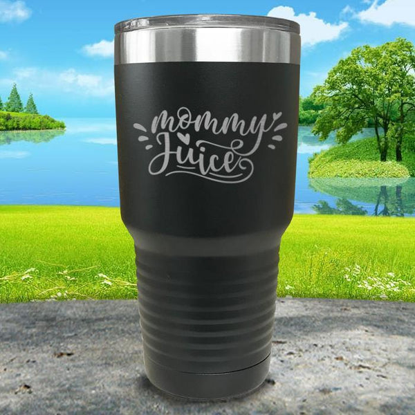 Mommy Juice Engraved Tumbler Tumbler ZLAZER 30oz Tumbler Black