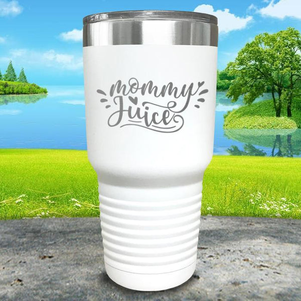 Mommy Juice Engraved Tumbler Tumbler ZLAZER 30oz Tumbler White