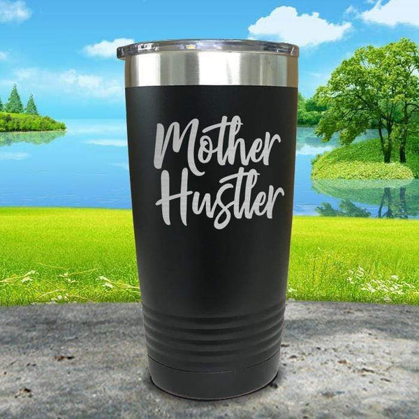 Mother Hustler Engraved Tumbler Tumbler ZLAZER 20oz Tumbler Black