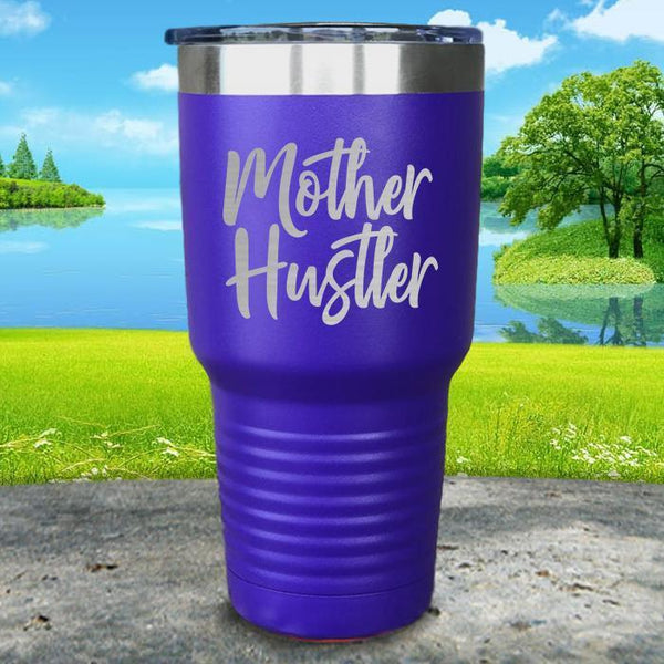 Mother Hustler Engraved Tumbler Tumbler ZLAZER 30oz Tumbler Royal Purple