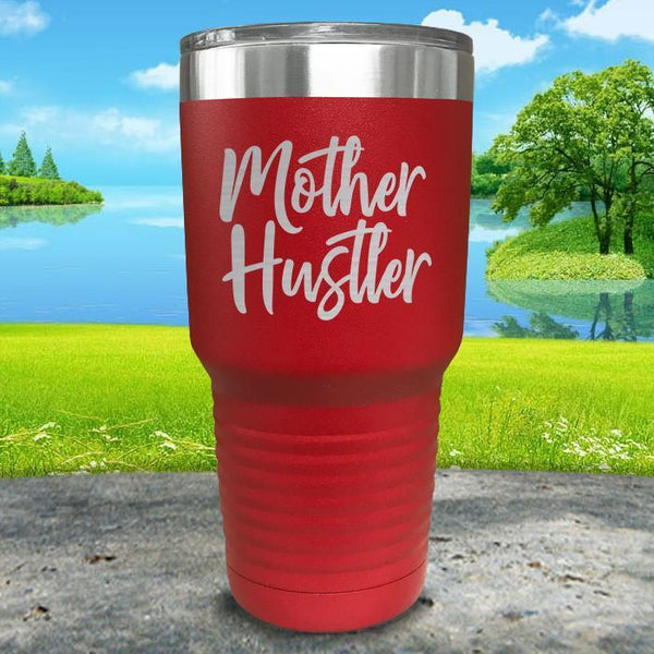 Mother Hustler Engraved Tumbler Tumbler ZLAZER 30oz Tumbler Red