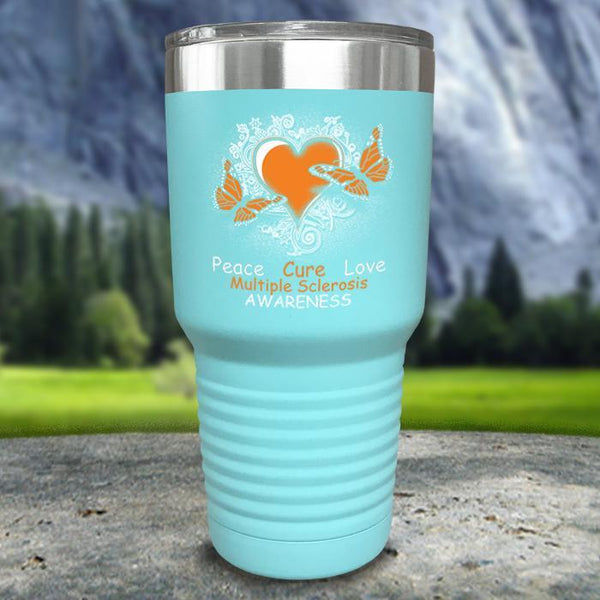 Multiple Sclerosis Awareness Color Printed Tumblers Tumbler Nocturnal Coatings 30oz Tumbler Mint
