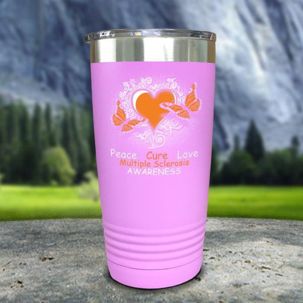 Multiple Sclerosis Awareness Color Printed Tumblers Tumbler Nocturnal Coatings 20oz Tumbler Lavender
