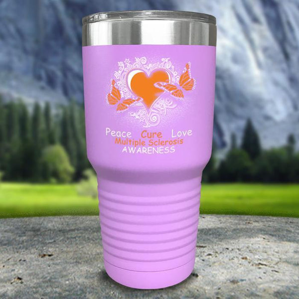 Multiple Sclerosis Awareness Color Printed Tumblers Tumbler Nocturnal Coatings 30oz Tumbler Lavender