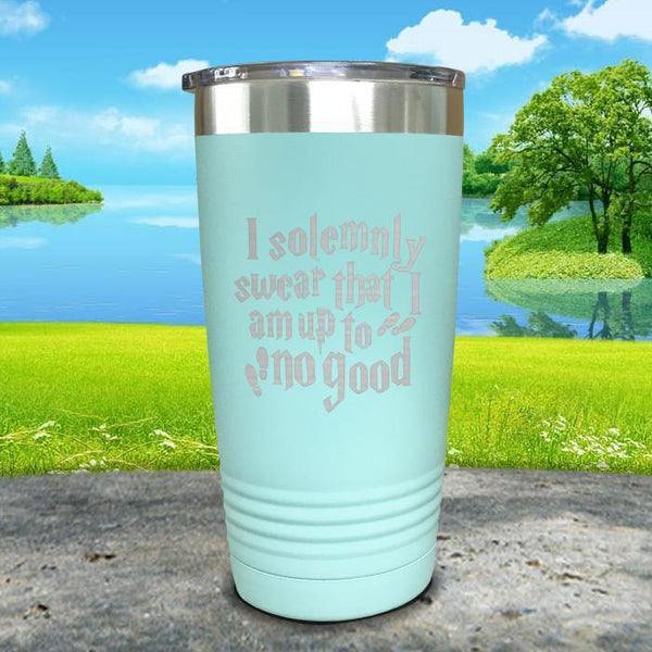 I Solemnly Swear I'm Up To No Good Engraved Tumbler Tumbler ZLAZER 20oz Tumbler Mint