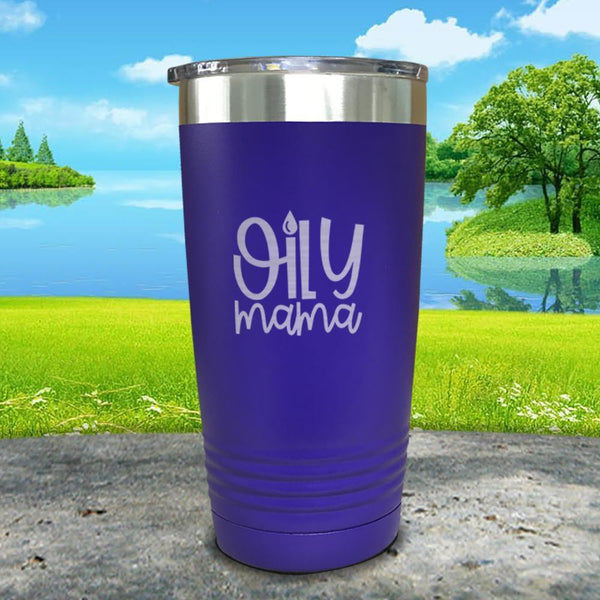 Oily Mama Engraved Tumbler Tumbler ZLAZER 20oz Tumbler Royal Purple