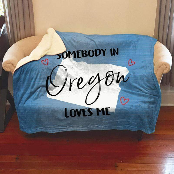 Somebody Loves Me (CUSTOM) Sherpa Blanket Blankets CustomCat Oregon
