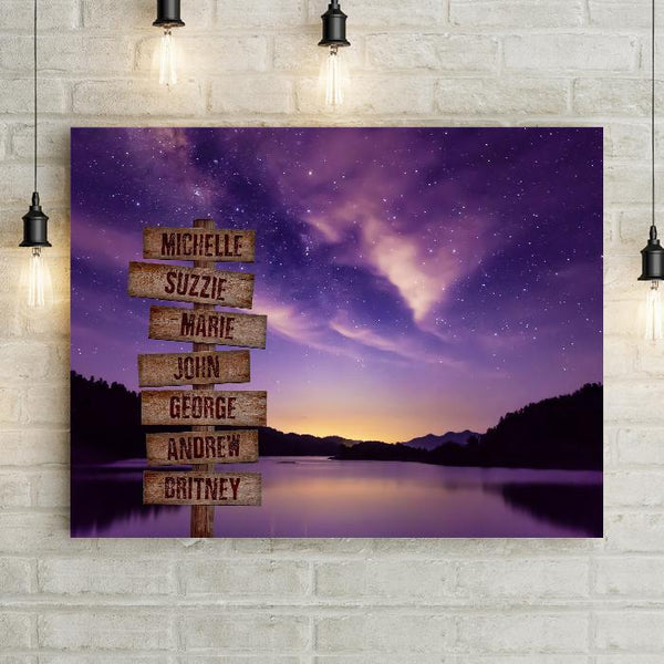 Personalized Purple Sky Premium Canvas
