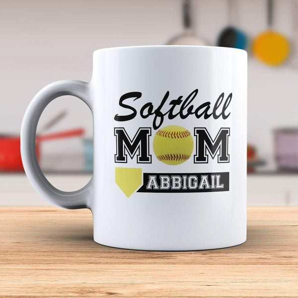 Personalized Softball Mama Mug Mugs Lemons Are Blue 15oz Mug