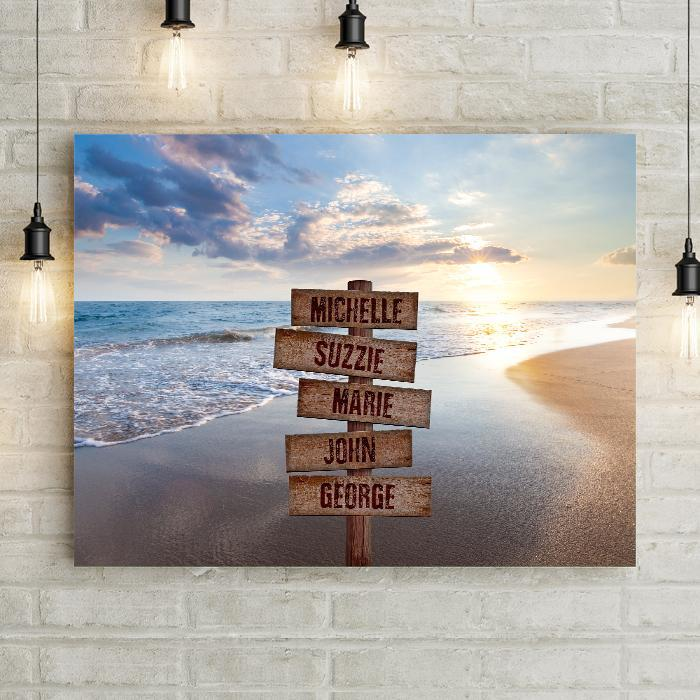 Personalized Seascape Premium Canvas