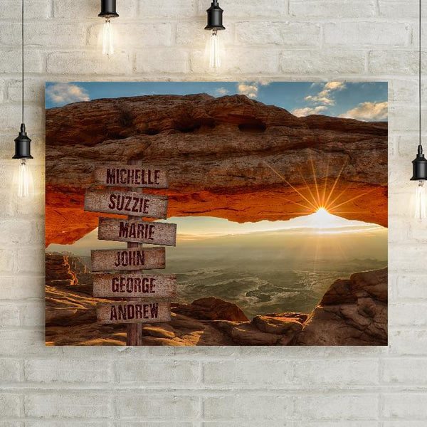 Personalized Sunset Ridge Premium Canvas