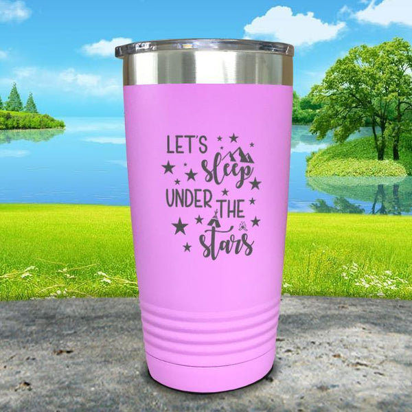 Let's Sleep Under the Stars Engraved Tumbler Tumbler ZLAZER 20oz Tumbler Lavender