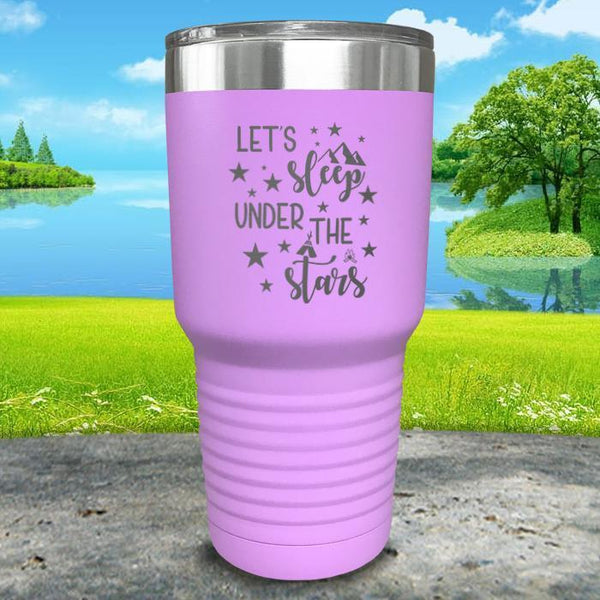 Let's Sleep Under the Stars Engraved Tumbler Tumbler ZLAZER 30oz Tumbler Lavender