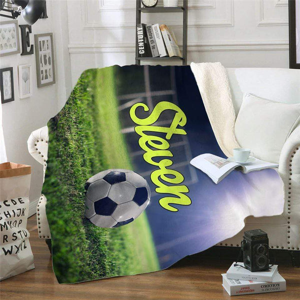 Soccer Personalized Sherpa Blanket Blankets Lemons Are Blue