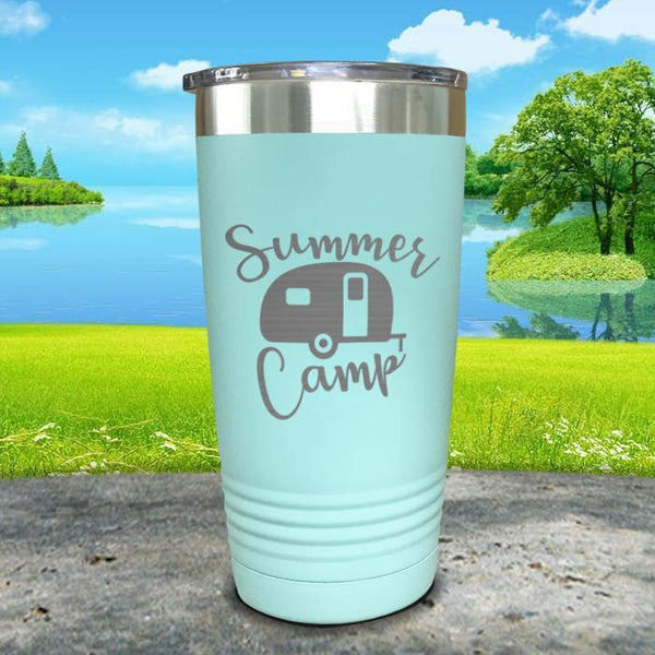 Summer Camp Engraved Tumbler Tumbler ZLAZER 20oz Tumbler Mint