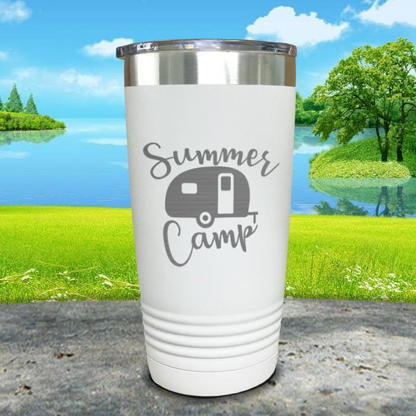 Summer Camp Engraved Tumbler Tumbler ZLAZER 20oz Tumbler White