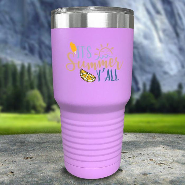 It's Summer Y'all Color Printed Tumblers Tumbler Nocturnal Coatings