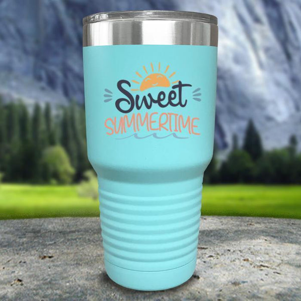 Sweet Summertime Color Printed Tumblers Tumbler Nocturnal Coatings 30oz Tumbler Mint