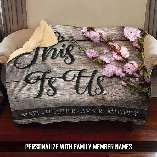 This Is Us Personalized Family Sherpa Blanket Blankets Lemons Are Blue