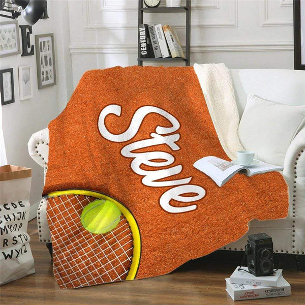 Tennis Personalized Sherpa Blanket Blankets Lemons Are Blue